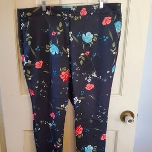 Worthington floral pants